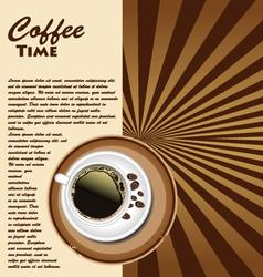 Cup coffee retro background vector