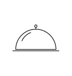 Dinner of the restaurant icon vector