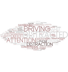 Distraction word cloud concept vector