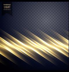 elegant golden light line effect background vector image