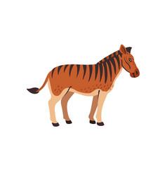 Extinct animals quagga prehistoric extinct north vector
