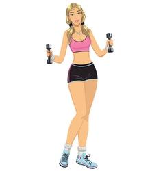 Fitness girl vector