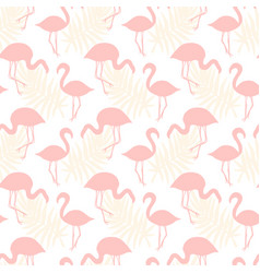flamingo birds seamless tropical pattern vector image