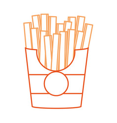 French fries design vector