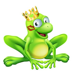 Frog prince cartoon vector