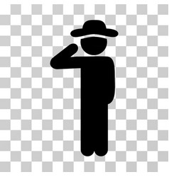 Gentleman salute icon vector