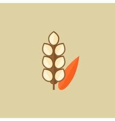 Grain food flat icon vector