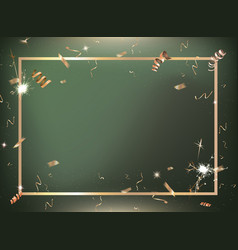 green gradient party and celebration background vector image
