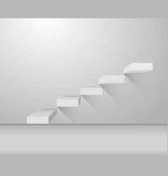 grey stair and stylish design on vector image