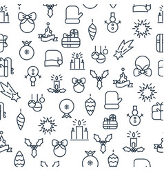 happy new year light seamless pattern vector image