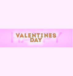 happy valentines day retro lettering design vector image