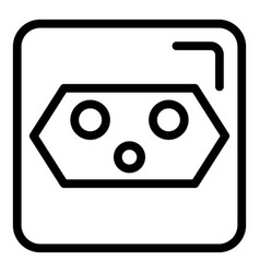 House socket icon outline style vector
