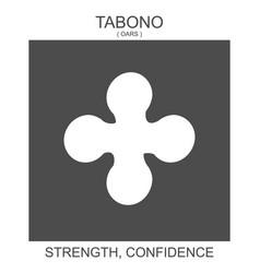 Icon with african adinkra symbol tabono vector