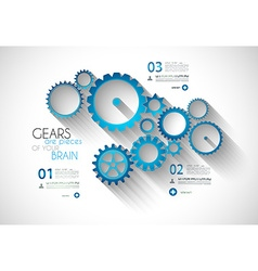 Infographic Modern Style Concept background vector image