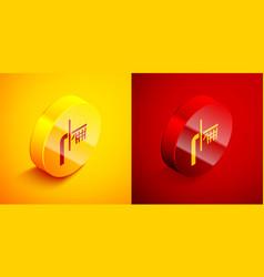 Isometric basketball backboard icon isolated on vector