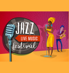 jazz music horizontal poster vector image