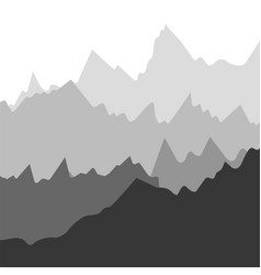 Landscape with silhouettes of mountains vector