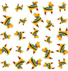 Latin pinata icon pattern vector