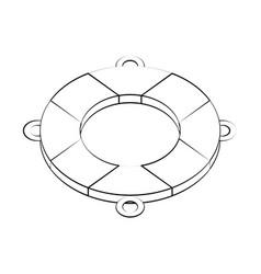 Lifesaver float symbol vector