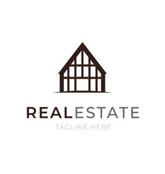 Logo template real estate concept apartment or vector