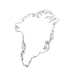 map greenland denmark in white background for vector image