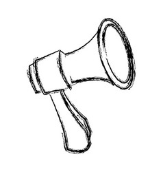 Megaphone loudspeaker alert announce icon vector