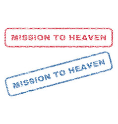 Mission to heaven textile stamps vector