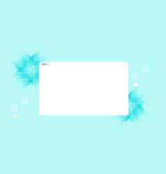 Modern web browser window internet empty page ui vector