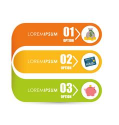 Money infographic design vector