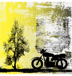 motorbike grunge background vector image
