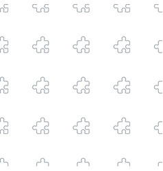 puzzle icon pattern seamless white background vector image