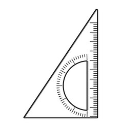 Ruler angle icon outline style vector