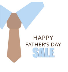 Sale bannerflyer or poster of happy fathers day vector