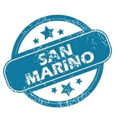 SAN MARINO round stamp vector image