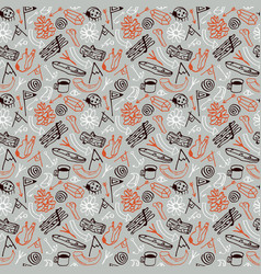 seamless pattern in style hand-drawn vector image