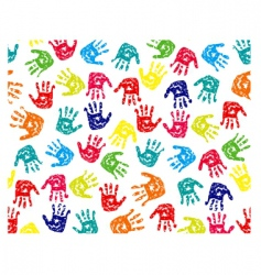 seamless pattern prints of hands vector image