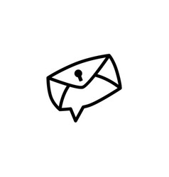 secure message chat bubble logo icon element vector image
