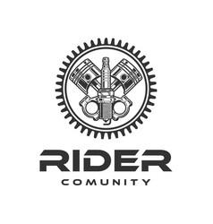 set car repair and racing emblems spark plug vector image