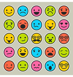 Set of emoticons faces icons vector image