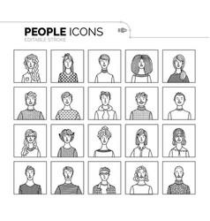 Set user avatars vector