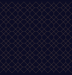 simple ornamental geometric seamless background vector image