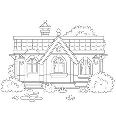 Small cosy village house vector