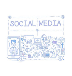 Social media set communication in the global vector