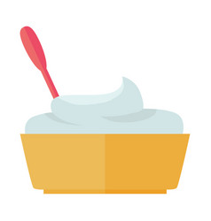 Sour cream in flat design vector