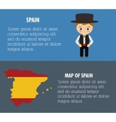 Spain culture and landmark design vector image