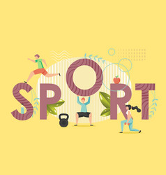sport concept flat style design vector image