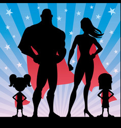 Superhero family girls vector