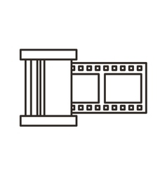 Tape video record flat icon vector