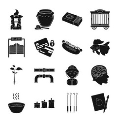 Tattoo magic apiary and other web icon in black vector
