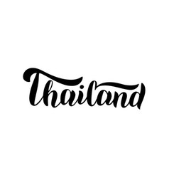 Thailand typography text logo trendy lettering vector